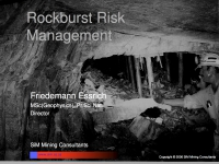 Rockburst Risk Management